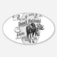 Denali Vintage Moose Sticker (Oval)