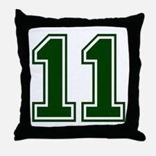 green11.png Throw Pillow