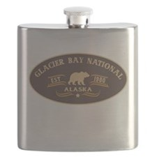 Glacier Bay Belt Buckle Badge Flask