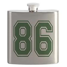 Cute 86th birthday Flask