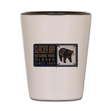 Glacier Bay Black Bear Badge Shot Glass