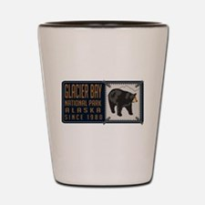 Glacier Bay Black Bear Badge Shot Glass