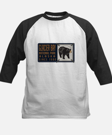 Glacier Bay Black Bear Badge Kids Baseball Jersey