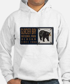 Glacier Bay Black Bear Badge Jumper Hoody