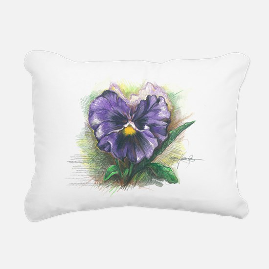 Purple Pansy Rectangular Canvas Pillow