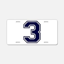bluea3.png Aluminum License Plate