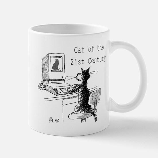 21st Cent cat Mugs