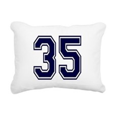 blue35.png Rectangular Canvas Pillow