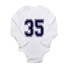 blue35.png Long Sleeve Infant Bodysuit