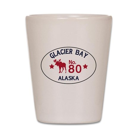 Glacier Bay Moose Badge Shot Glass