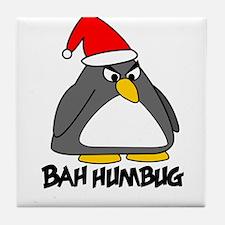 Bah Humbug Penguin Tile Coaster
