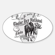 Glacier Bay Vintage Moose Sticker (Oval)