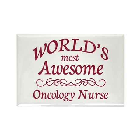 Awesome Oncology Nurse Rectangle Magnet (100 pack)