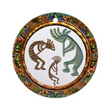 Best Seller Kokopelli Ornament (Round)