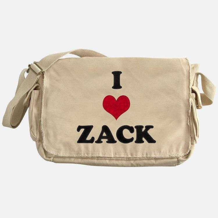 I Love Zack Messenger Bag
