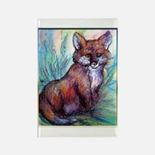 Fox, wildlife art! Rectangle Magnet