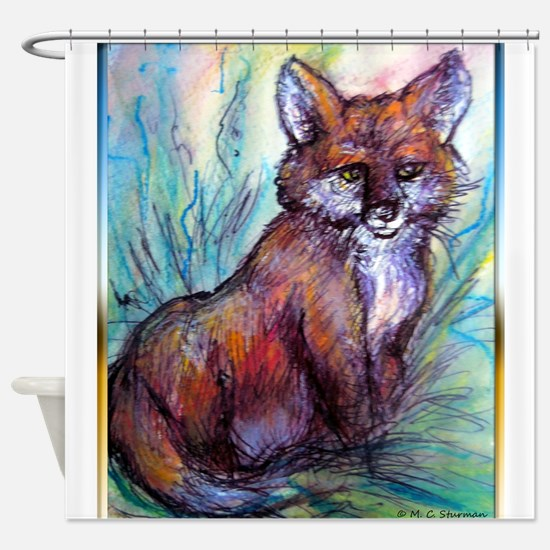 Fox, wildlife art! Shower Curtain