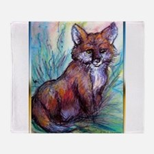 Fox, wildlife art! Throw Blanket