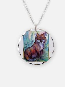 Fox, wildlife art! Necklace