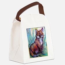 Fox, wildlife art! Canvas Lunch Bag