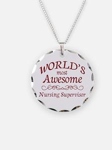 Awesome Nursing Supervisor Necklace