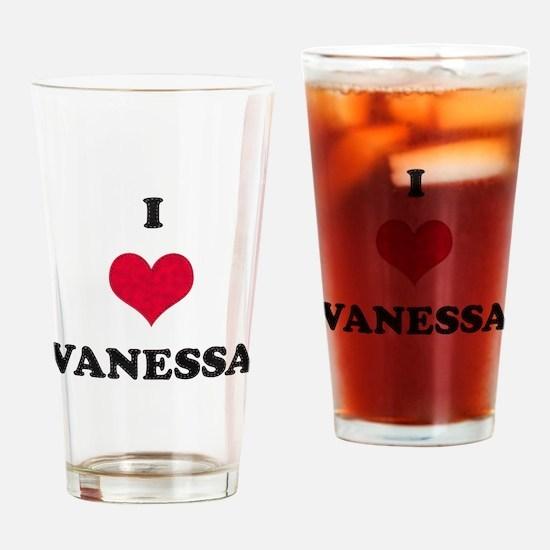 I Love Vanessa Drinking Glass