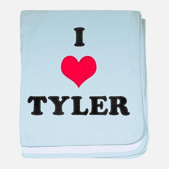 I Love Tyler baby blanket