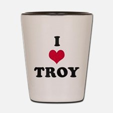 I Love Troy Shot Glass