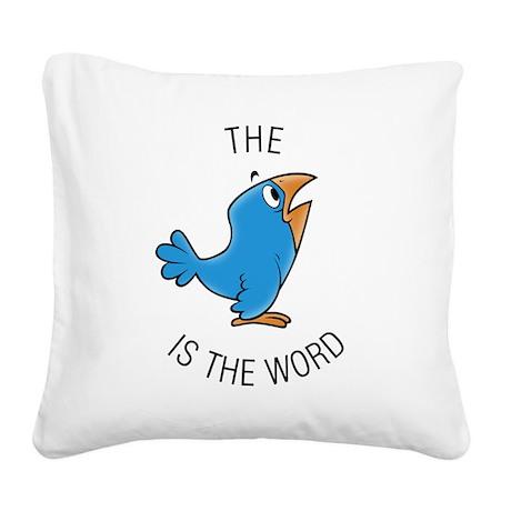 cartoon bird Square Canvas Pillow