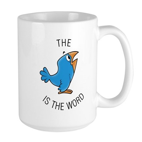 cartoon bird Large Mug