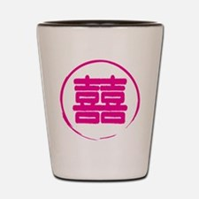 Double Happiness Chinese Symbol.png Shot Glass