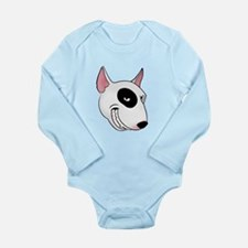bull terrier head Long Sleeve Infant Bodysuit