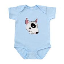 bull terrier head Infant Bodysuit