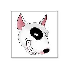 "bull terrier head Square Sticker 3"" x 3"""