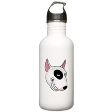 bull terrier head Water Bottle