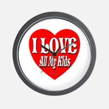 I LOVE All My Kids Wall Clock