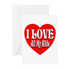 I LOVE All My Kids Greeting Cards (Pk of 10)