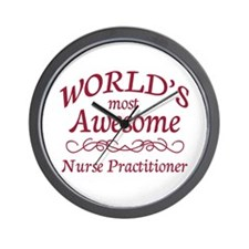 Awesome Nurse Practitioner Wall Clock