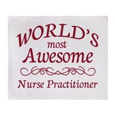 Awesome Nurse Practitioner Throw Blanket