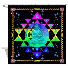 Buddha Sri Yantra Shower Curtain