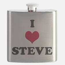 I Love Steve Flask