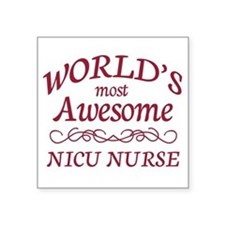 "Awesome NICU Nurse Square Sticker 3"" x 3"""