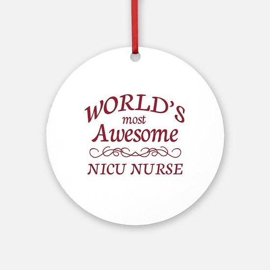 Awesome NICU Nurse Ornament (Round)