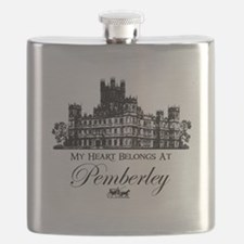 my heart belongs at Pemberley Flask