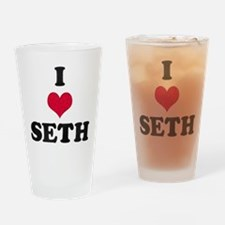I Love Seth Drinking Glass