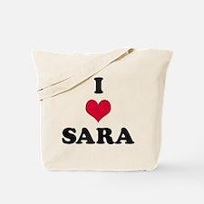 I Love Sara Tote Bag
