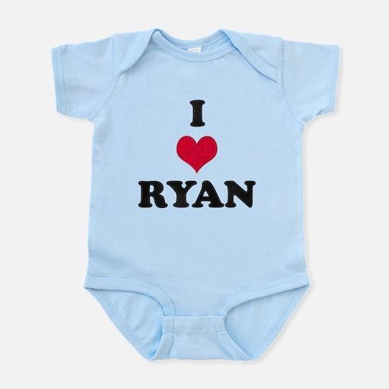 I Love Ryan Infant Bodysuit