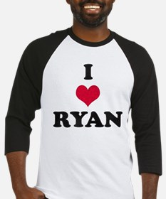 I Love Ryan Baseball Jersey
