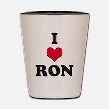 I Love Ron Shot Glass