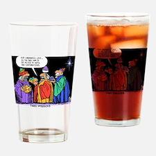 Three Wiseguys Drinking Glass